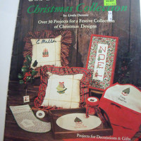 Vintage Christmas Cross Stitch pattern book over 30 handmade holiday project designs Cross Stitch Christmas Designs Plaid