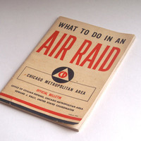 Vintage Chicago Air Raid World War II book Marshall Field