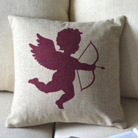 Cupid Print Decorative Pillow [114] : Cozyhere