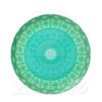 PEACKOCK KALEIDOSCOPE  MELON  PLATE from Zazzle.com