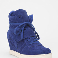Ash Suede High-Top Wedge-Sneaker