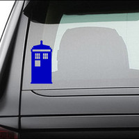 Doctor Who Tardis Vinyl Decal Sticker 5.0&quot; x 2.5&quot;
