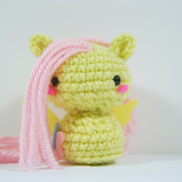 Crochet Fluttershy My Little Pony Amigurumi Toy