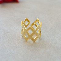 Crown Ring - Gold - One