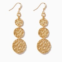 Tousled Foil Earrings | Fashion Jewelry | charming charlie