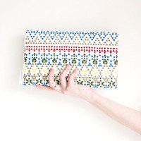 Triangles - Geometric print clutch, purse, carry all bag