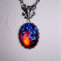 Dragon&#x27;s Breath Mexican Opal Necklace