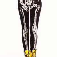 skeleton-leggings BLACKWHITE - GoJane.com