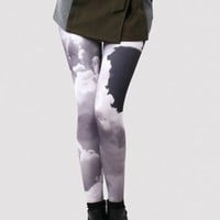 Evening Glow Cloud Print Leggings  - Retro, Indie and Unique Fashion
