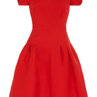 Valentino|Silk and wool-blend dress|NET-A-PORTER.COM