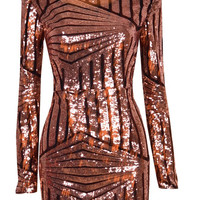 """""""Sequin Dream"""" Backless Mini Bodycon Dress (2 colors available)"""