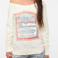 Junk Food Budweiser Off-The-Shoulder Sweatshirt
