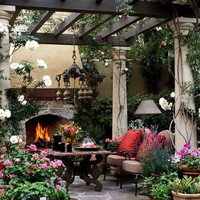 Outdoor Spaces / How I would love a patio like this!
