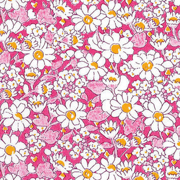 Liberty Tana Lawn Fabric - Liberty Japan - Cotton Print Fabric, Alice W - Pink Floral Scrap - Quilt, Patchwork, Quilting - NT15SS6