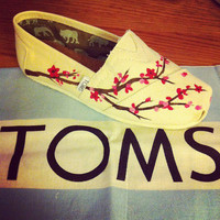 Cherry Blossom Custom TOMS Shoes