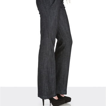 Polished denim trouser