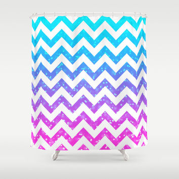 Chevron #15 Shower Curtain by Ornaart