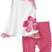 Carters Baby-Girls Infant Polka Dot Flowers Print Legging Set