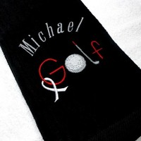 Golf Towel Awareness Ribbon Men Ladies Personalized and Customized