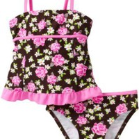 Hula Star Girls 2-6X Mini Rose Toddler Two Piece Tankini