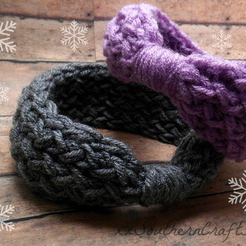 Baby Winter Headband, Baby Ear Warmer, Cozy Headwrap, Infant Headband, Baby Knit Headband, Baby Head Wrap, Baby Headwrap