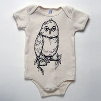organic owl one-piece by KLT works at fawn&forest
