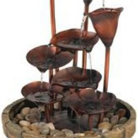 Cascading Leaves Fountain | LampsPlus.com