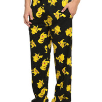 Pokemon Pikachu Print Guys Pajama Pants