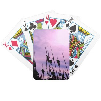 Purple Sunset Playing Cards