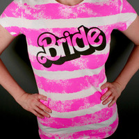 Bride Shirt - Pink BARBIE BRIDE Tee