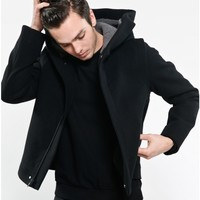 hooded trapunto jacket