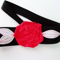 Black with Red Rosette Headband, Arkansas, Georgia, Texas Tech, and many more Teams | Our Place To Nest