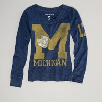 Michigan Vintage Long Sleeve T | American Eagle Outfitters