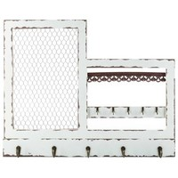 Antique White Jewelry Holder with Hooks & Wire | Shop Hobby Lobby