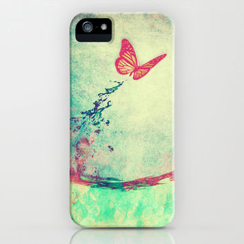 Waterfly II iPhone & iPod Case by SensualPatterns