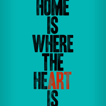 HOME IS WHERE THE HE(ART) IS Canvas Print by WORDS BRAND™
