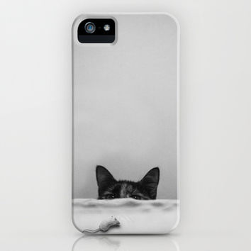 Slinky cat iPhone & iPod Case by SensualPatterns