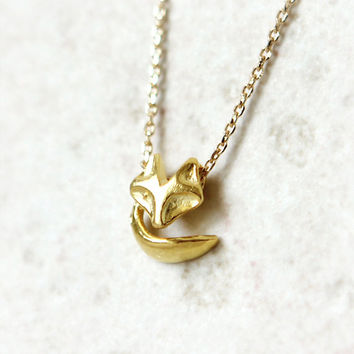 Fox Necklace NO.2 / Choose your color / gold and silver
