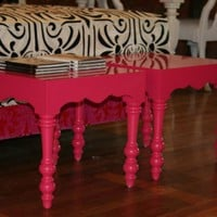 www.roomservicestore.com - Hot Pink Regency Side Table