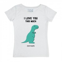 Dino Love-Female Snow T-Shirt
