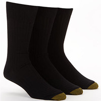 Gold Toe Canterbury Dress Socks 3-Pack Extended Sizes Hosiery 794E at BareNecessities.com