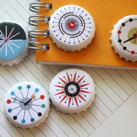 DIY mid century clock magnets | How About Orange