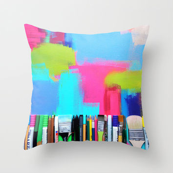 Real Weapons Of Mass Creation Throw Pillow by Bianca Green