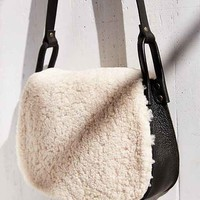 Ecote Shearling Saddle Bag- White One