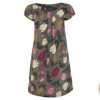 Tulip Print Cotton Pleat Front Dress at LAURA ASHLEY
