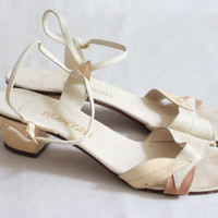 Early 1980s Beige Leather Sandals, Fits Like 7.5 or 8 narrow