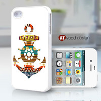 unique iphone case iphone 4 case iphone 4s case iphone 4 cover anchor  compass graphic atwoodting design