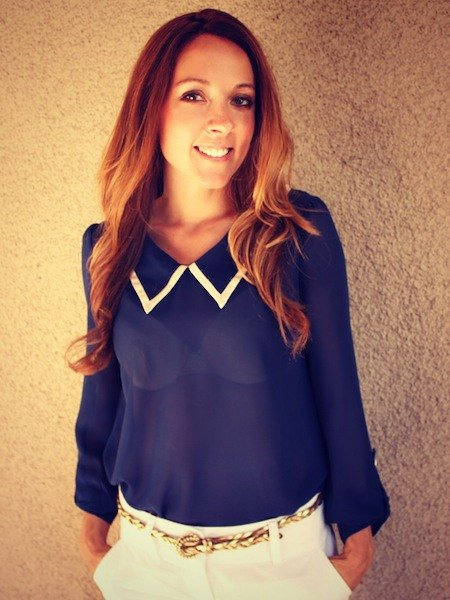 Sailor Blouse (Navy)