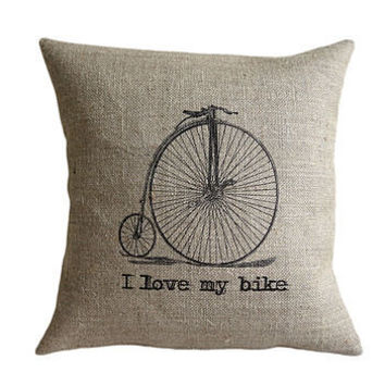 'I Love My Bike' Cushion