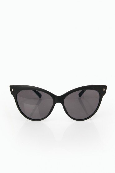 Cat Eye Sunglasses in Matte Black - ShopSosie.com